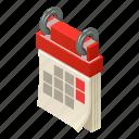 agenda, blank, calendar, isometric, logo, month, object