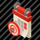 agenda, calendar, isometric, logo, month, object, target