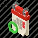 agenda, calendar, isometric, logo, month, object