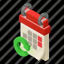 agenda, calendar, isometric, logo, mobile, month, object