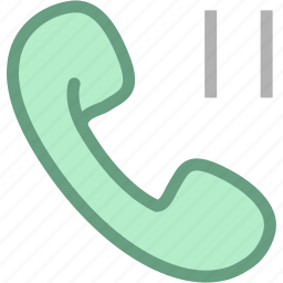 calling, pause calling, phone, telephone icon