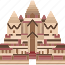 angor, wat, cambodia, khmer, archeology icon
