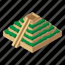 chichen, isometric, logo, mayan, object, pyramid, temple