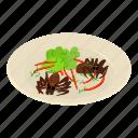 ant, asia, breakfast, fried, isometric, logo, object