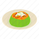 asia, breakfast, dish, isometric, logo, object, vegetable