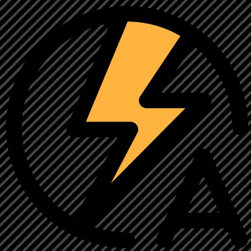 auto flash, camera icon