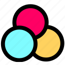 camera, colors icon