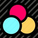 camera, colors icon