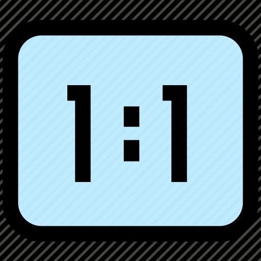 camera, scale, screen icon