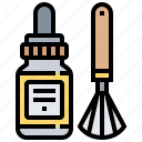 bottle, brush, camera, cleaner, lens icon
