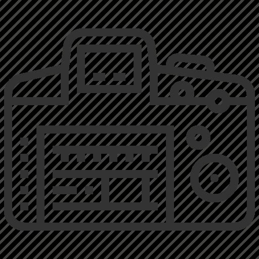 back, camera, dslr, view icon