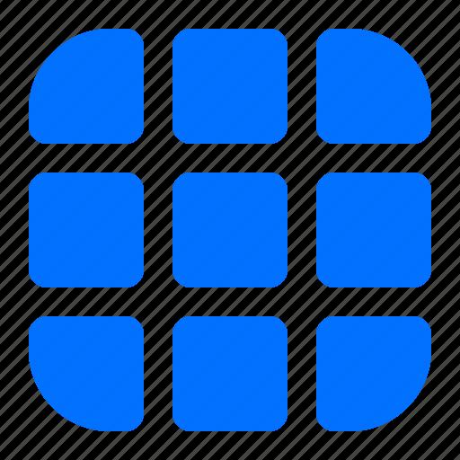 grid, menu, selection icon