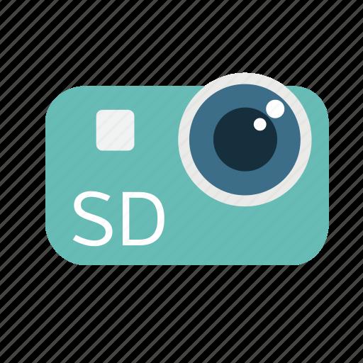broadcast, camera, digital, lens, sd, standard definition, video icon