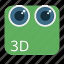 3d, camera, cinema, digital, dual, stereoscopic icon