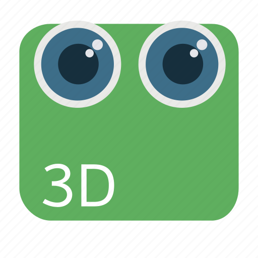3d, camera, cinema, digital, dual, stereoscopic icon