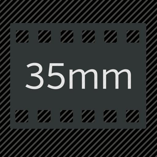 35mm, camera, cinema, film, format, old school, video icon