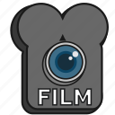 camera, cinema, filled, film, lens, old school icon