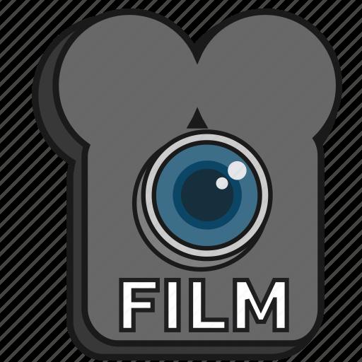 camera, cinema, filled, film, lens, old school icon