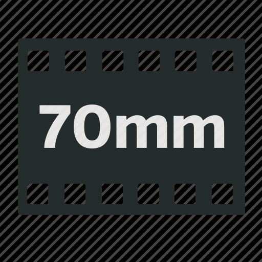 camera, cinema, filled, film, format, imax, negative icon