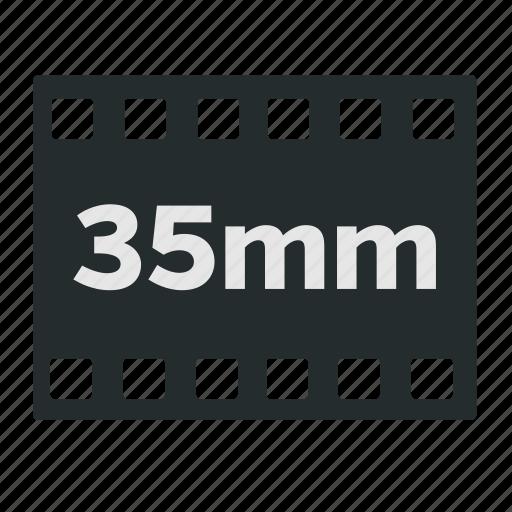 35mm, camera, cinema, filled, film, format, negative icon