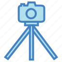 camera, equipment, image, photo, photography, picture, tripod icon