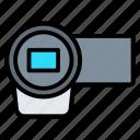 camcorder, camera, handy cam, recording, video icon