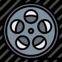 camera, film, movie, roll, video icon