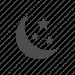 dark, moon, night, nightmode, stars icon