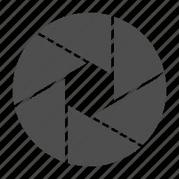 camerashuttter, close, shutter, shutterclose, shutteropen icon