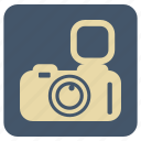 camera, flash, vintage icon