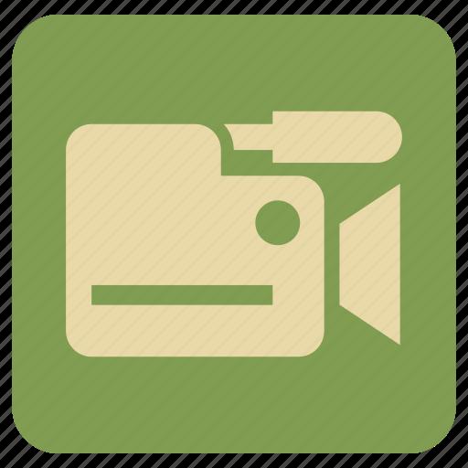 camera, hd, vintage icon