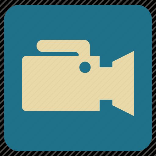 camera, lense, recorder, vintage icon