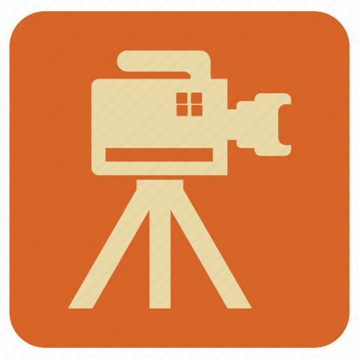 camera, tripod, vintage icon
