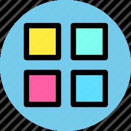 album, gallery, menu icon