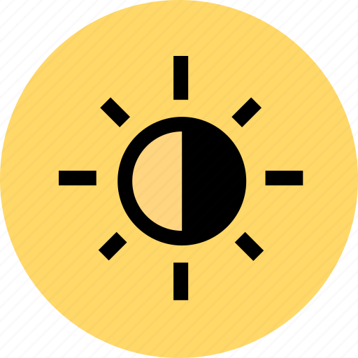 brightness, contrast icon