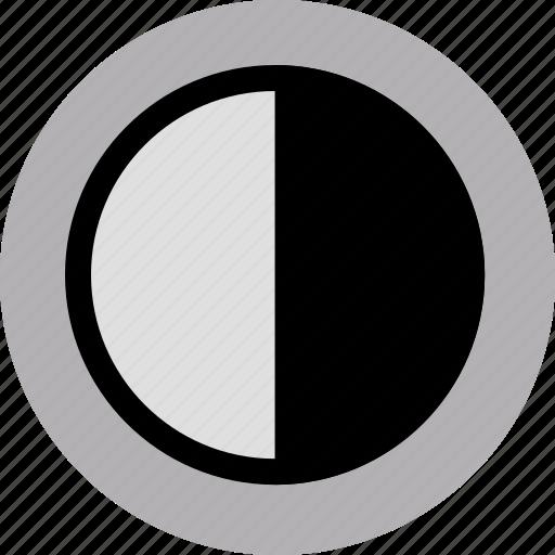 camera, contrast icon