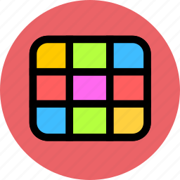 camera, grid, grids, lens, shooting icon