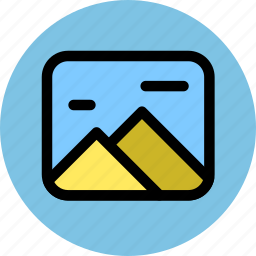 album, gallery, landscape, photography icon