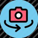 camera, lens, shooting icon
