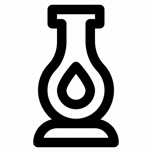 antique, camping, lamp, lantern, oil icon