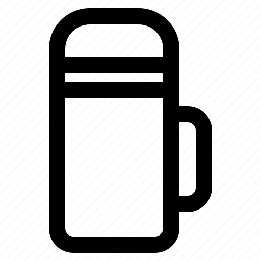 camping, drink, flask, hot, thermo icon