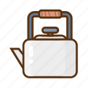 camping, kettle, teapot icon