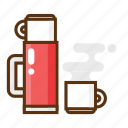 camping, drink, glass, hot, thermos icon