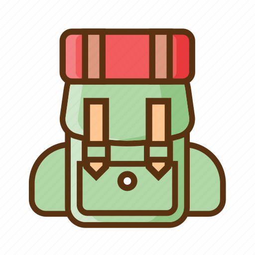 backpack, bag, camping, hiking icon