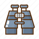 binocular, camping, outdoor, telescope icon