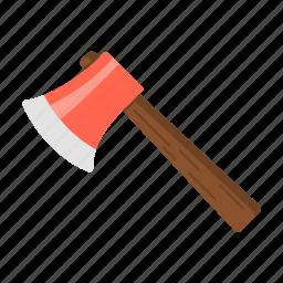 axe, camp, forestaxe, outdoor, smallaxe, travel icon