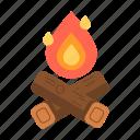 bonfire, campfire, fire, travel