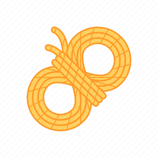 camp, plies, rope, strand, travel, yarn icon