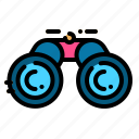 binoculars, eye, see, sight, spy icon