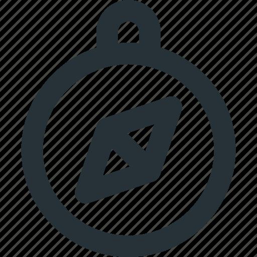 arrow, compass, direction, navigation, tool icon